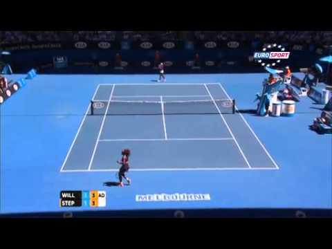 Serena Williams vs Sloane Stephens Australian Open 2013 Quarterfinals Full Highlights 23-01-2013