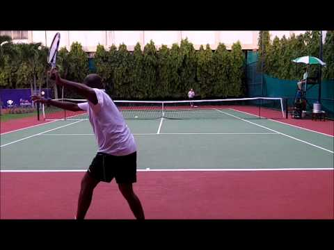 Asia ITF Open Pattaya Thailand Super Dan vs Malayasian Guy pt 3