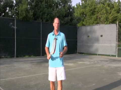 Tennis instruction - Serve - Learning to use the right grip to serve in tennis