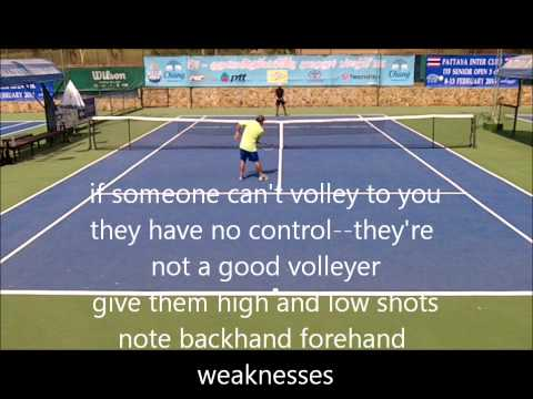 How to Play Better Singles--Using the Warm Ups for Evaluation  ITF Grade 4:  G vs Tai