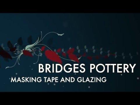 Glazing Tip using Masking tape by Bridges Pottery