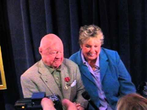 "Mickey Rooney & his wife at ""Black Stallion"" screening, April 11, 2008"