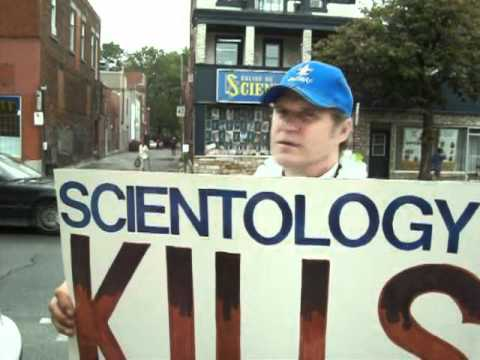 Montreal Scientology protest August 2010 - Anonsparrow tribute