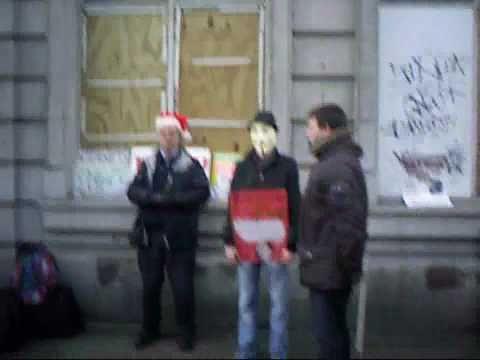 Dublin protest, December 2010