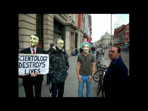 October 2013 Dublin Anti-Scientology protest