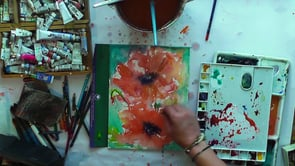poppy in watercolour demonstration