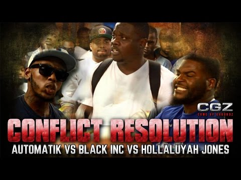 BATTLE RAP - QUEENZFLIP- COME UP GROUNDZ - HOLLALUYAH JONES VS AUTOMATIK VS BLACK INC (@DJGMONEY)