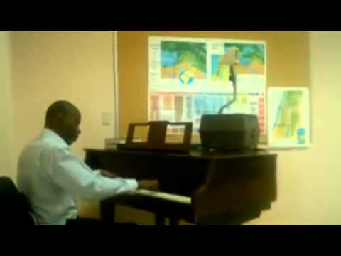 "Warrior Richardson play ""Jesus Loves Me"" on piano"