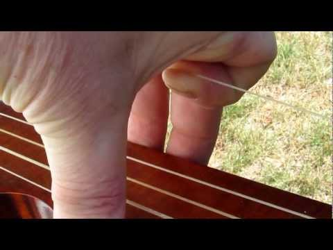 String Stretching on a Minstrel Banjo