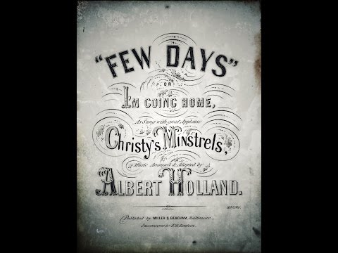 """Few Days or I'm going Home """"Albert Holland""""...1854..."""