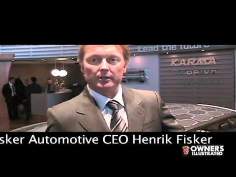 Henrik Fisker interview & Karma presentation