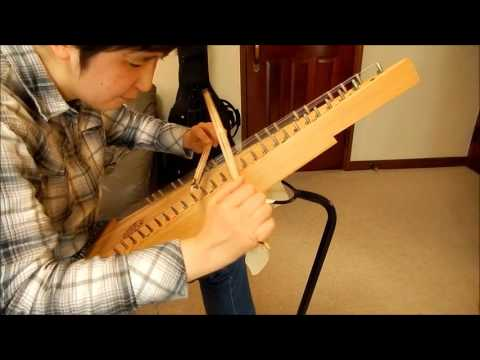 Devil's Dream on Bowed Psaltery (double bowing)