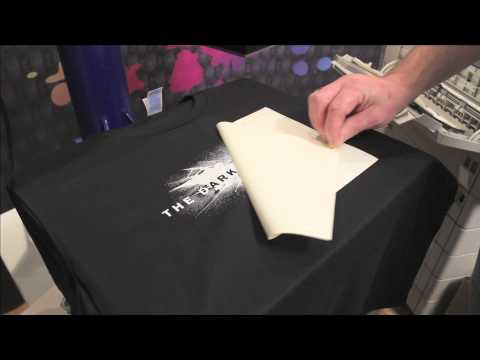 Self Weeding Transfer Paper on Dark Tshirts with White