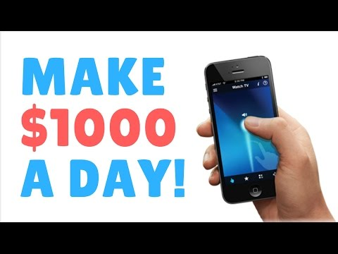 How to Make $1000 a Day! JUST Smartphone Apps!