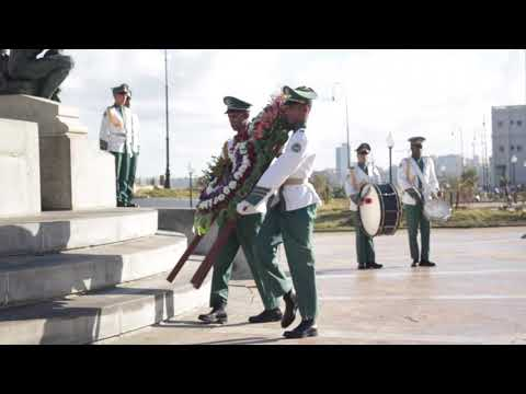 Acto solemne y ofrenda floral ante el monumento de Antonio Maceo