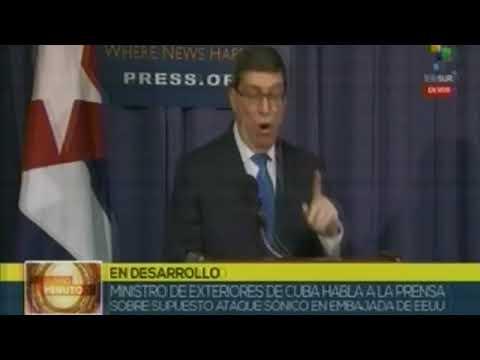 Encuentro del Canciller cubano con medios de prensa en EE.UU.