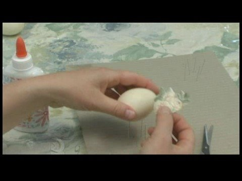 How to Make Decoupage Eggs : Victorian Decoupage Egg: Cutting Motif