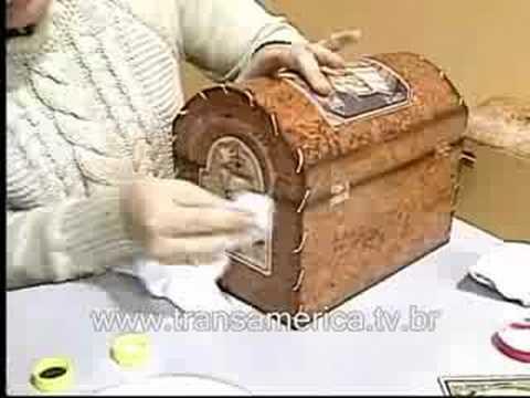 Tv Transamérica - Artesanato Bau em imitação de couro 2