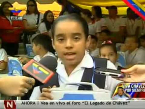 Niña venezolana le dijo a oposición que reflexione y sea como Chávez