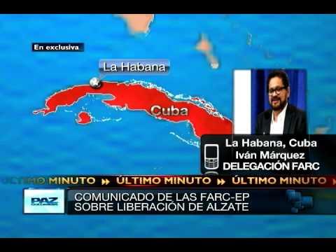 Comunicado de la FARC en torno a la liberación del General Alzate