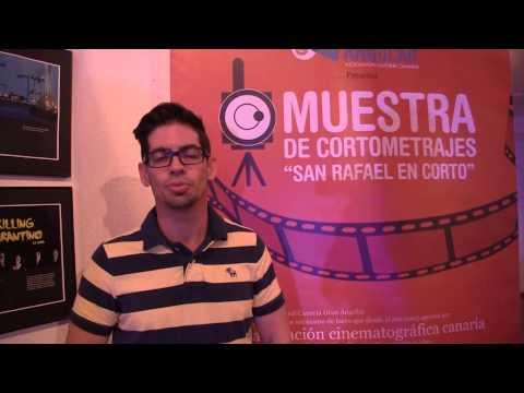 Yumey Besu, delegado de Cuba a X Muestra de Corto Metrajes, San Rafael en Corto.