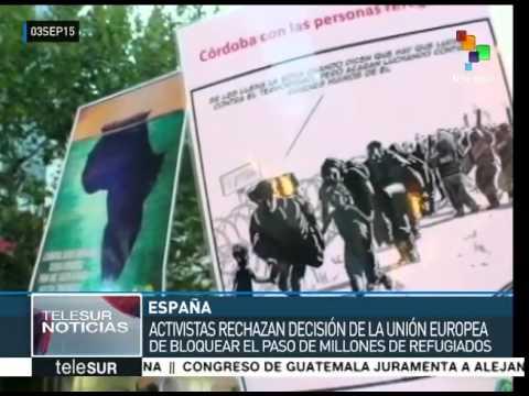 España: andaluces se manifiestan en apoyo a los refugiados