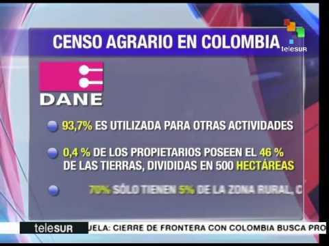 Colombia: censo agrario confirma injusta distribución de la tierra