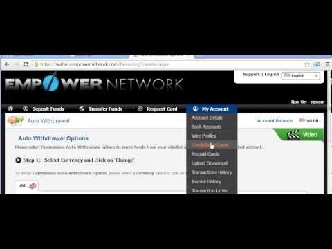 Using Ewallet with Empower Network