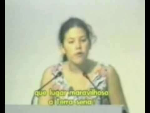 Severn Suzuki speaking at UN Earth Summit 1992