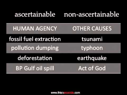 Ecocide Is A Crime, Part 1: Definition