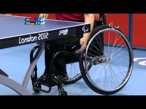 Table Tennis - GER vs CHN - Men's Singles Cl 4-5 Quarterfinal1 M3 - London 2012 Paralympic Games.mp4