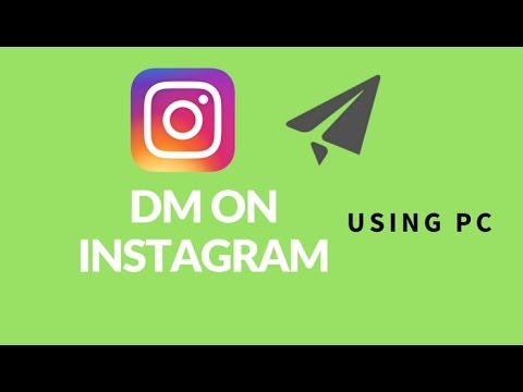 How to use Instagram direct Message on pc/mac