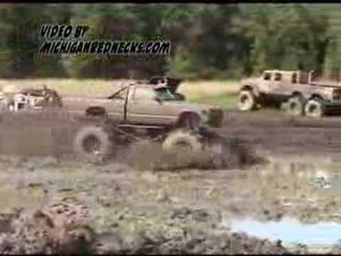 Monster mud truck bog in Michigan