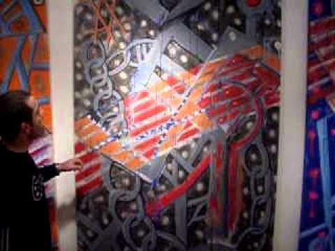 Hans Wolf talks with John C. Kuchera  at 2010 NAAS (New American Art Show)
