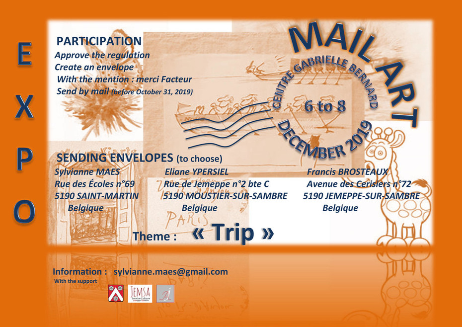 affiche -invitation participation Expo Mail Art