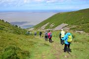 Steep descent in to Porlock Bay