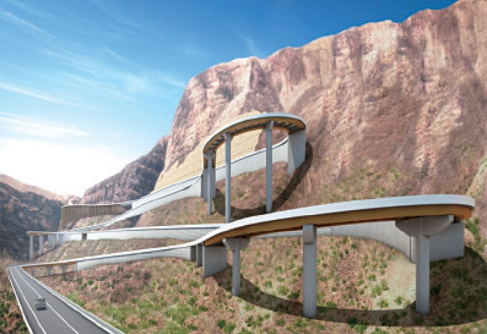 N70 Steel Bridges Girdo Mountain Pakistan