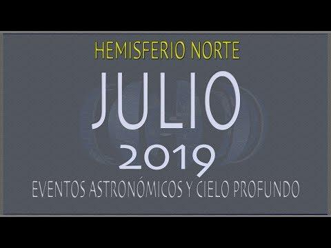 EL CIELO DE JULIO 2019. HEMISFERIO NORTE