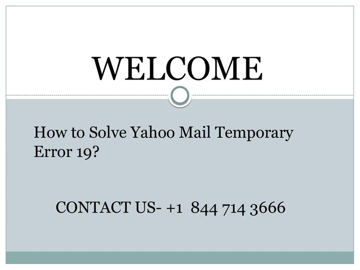 How to Solve Yahoo Mail Temporary Error 19
