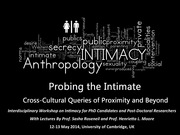 """Deadline Approaching Soon: """"Probing the Intimate: Cross-Cultural Queries of Proximity and Beyond"""""""