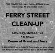 FERRY STREET CLEAN UP at 1PM