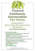 CitySeed Community Conversation