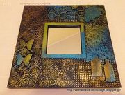 Διακόσμηση καθρέπτη με embossed folders και δακτυλοπατίνες