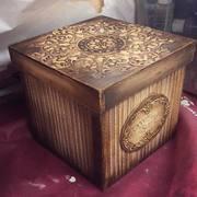 Κουτί με παλαίωση και ανάγλυφα χαρτιά