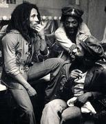 DONALD KINSEY W/ BOB MARLEY @ ROXY 1976...PICTURE TAKEN BY KIM GOTTLIER-WALKER