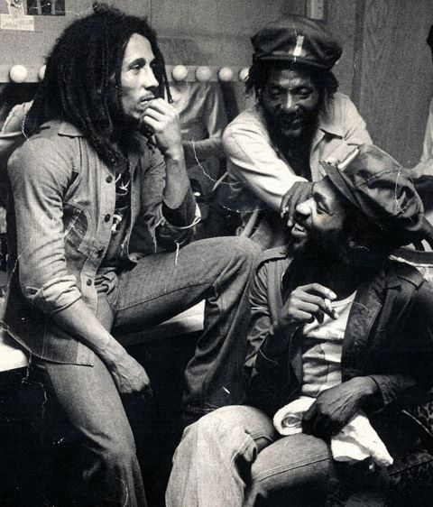 DONALD KINSEY W/ BOB MARLEY @ ROXY 1976...PICTURE TAKEN BY KIM GOTTLIER-WALKER