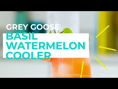Summer Cocktail For Your Long Weekend: How to Make a Basil Watermelon Cooler | theSkimm x Grey Goose