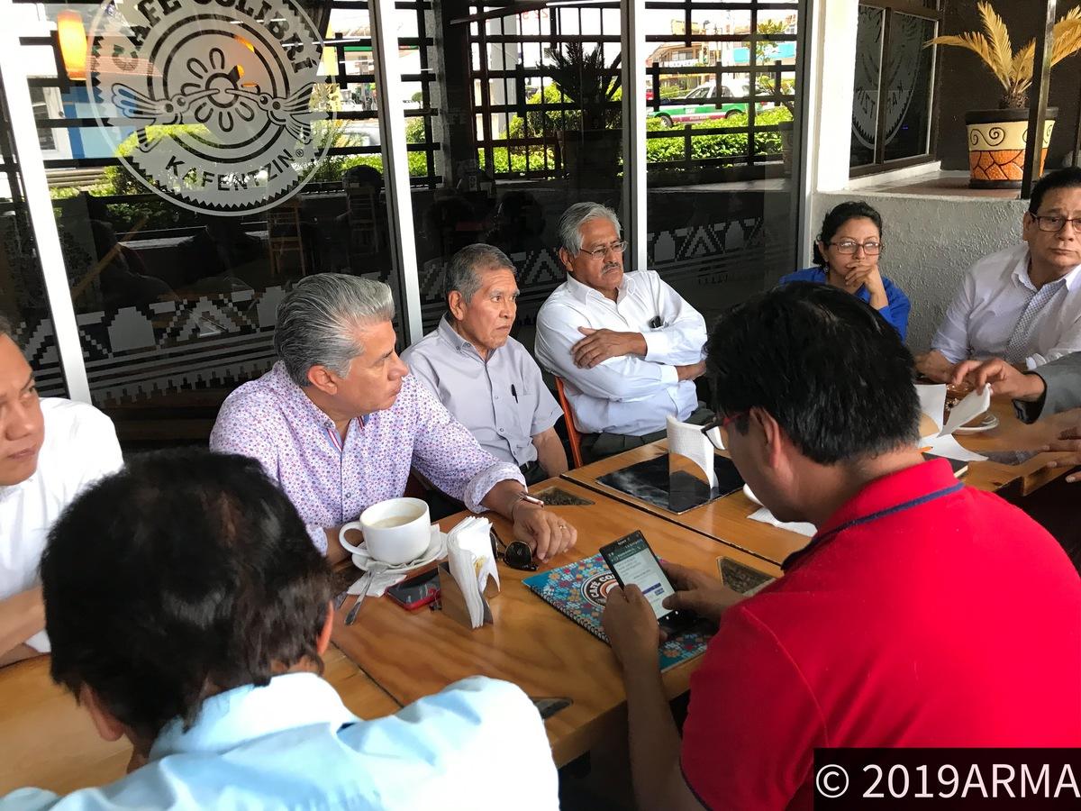 Rueda de prensa en Xalapa de Alejandro Rojas Diaz Dura