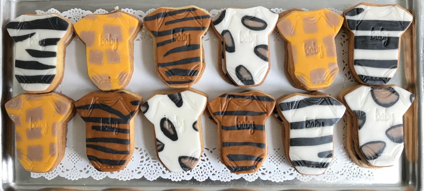 Vanille koekjes met marsfond dierenprint