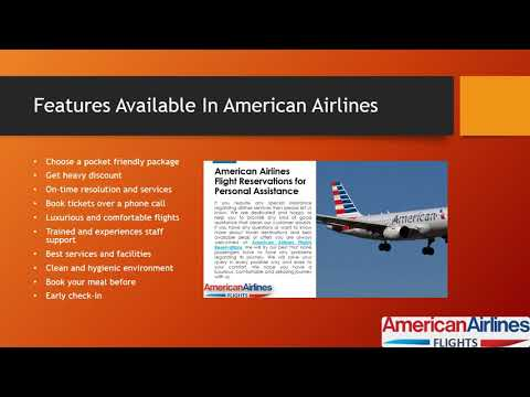 Fly With American Airlines Flights Reservations